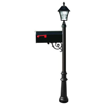 Lewiston Mailbox with Post Included Color: Black