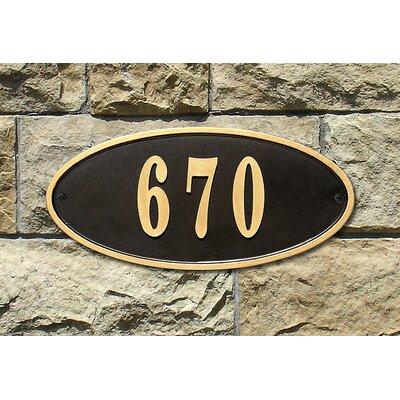 Claremont 1-Line Wall Address Plaque Plaque Color: Black