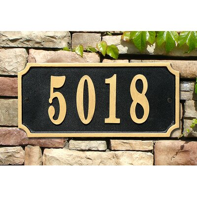 Waterford 1-Line Wall Address Plaque Plaque Color: Black