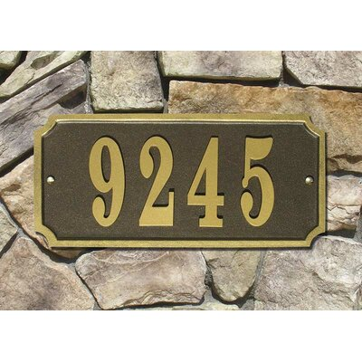 Waterford 1-Line Wall Address Plaque Plaque Color: Bronze