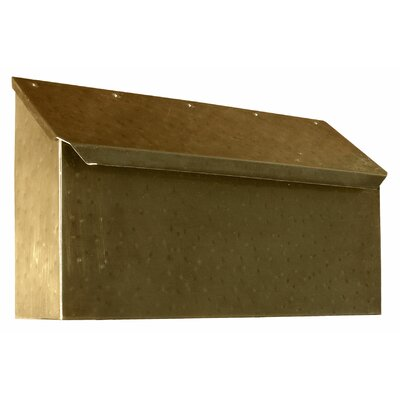 Provincial Wall Mounted Mailbox Finish: Hammered Antique Brass
