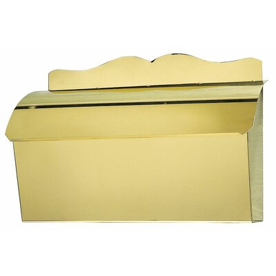 Provincial Wall Mounted Mailbox Finish: Smooth Polished Brass