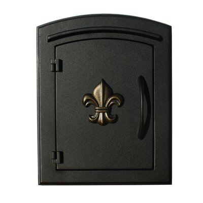 Manchester Wall Mounted Mailbox Finish: Black, Security: Locking Rear Door