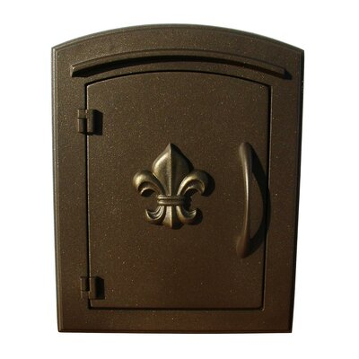 Manchester Wall Mounted Mailbox Finish: Bronze, Security: Locking Rear Door
