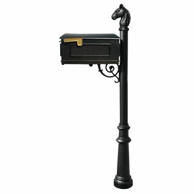 Lewiston Mailbox Mailbox with Post Included Color: Black