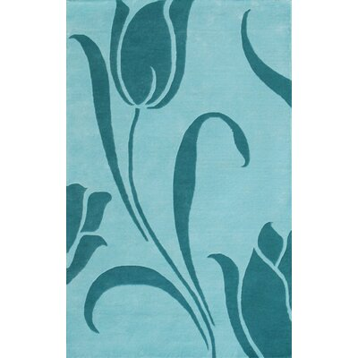 Noble House Floral Light Blue Area Rug