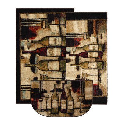 Mohawk Home New Wave Wine and Glasses Area Rug