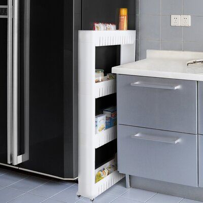 """4 Tier Kitchen Cart 40"""" Shelving Unit"""