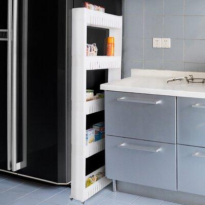 """5-Tier Kitchen Cart 52"""" Shelving Unit"""
