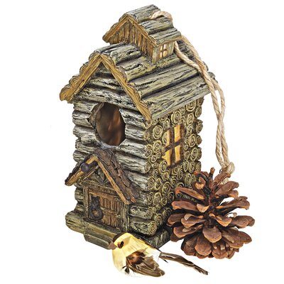 Backwoods Cabin 8 in x 5.5 in x 4 in Birdhouse