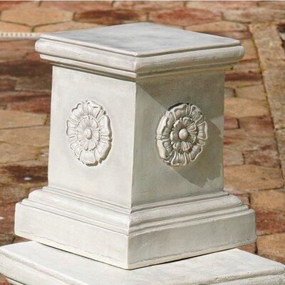 Design Toscano English Rosette Garden Sculptural Large Plinth