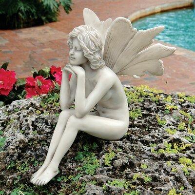 Design Toscano The Secret Garden Pondering Fairy Statue