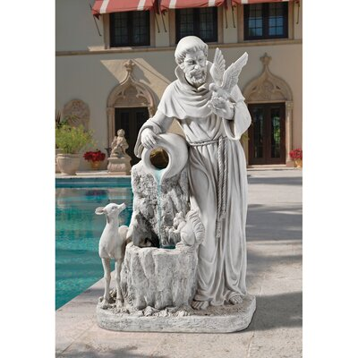 St. Francis Resin Life Giving Water Fountain