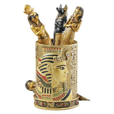 Design Toscano Egyptian Pharaoh Pen Vessel
