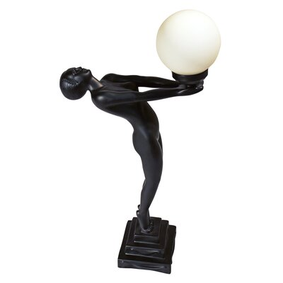 "Design Toscano The Clarte Illuminated Statue 29.5"" H Table Lamp with Sphere Shade"