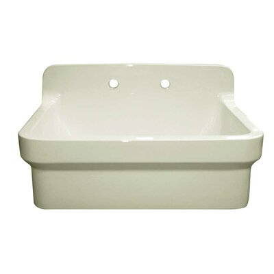 "Countryhaus 30"" x 22"" Single Fireclay Drop-In Utility Sink Sink Finish: Biscuit"