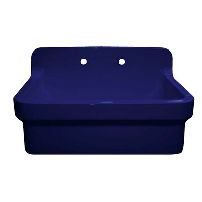 "Countryhaus 30"" x 22"" Single Fireclay Drop-In Utility Sink Sink Finish: Sapphire Blue"