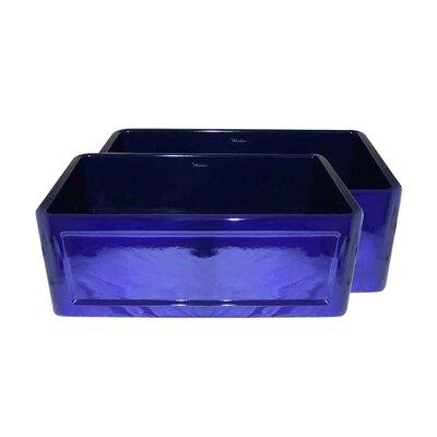 "Reversible 27"" L x 19"" W 1 Basin Farmhouse Kitchen Sink Finish: Sapphire Blue"
