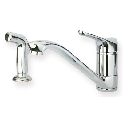 "Whitehaus Collection Metrohaus 5.5"" One Handle Single Hole Kitchen Faucet with Lever Handle and Side Spray"
