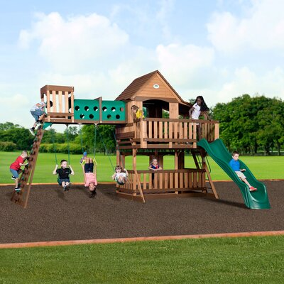 Woodridge Elite All Cedar Wooden Swing Set Techourlife Com