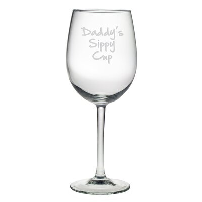 Daddy's Sippy Cup Wine Glass