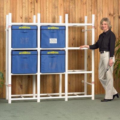 "Bin Warehouse 12 Tote Storage System 69"" H 4 Shelf Shelving Unit"