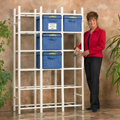 "68"" H x 45.5"" W 18 File Box Storage Shelving Unit"