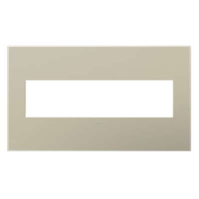 adorne 4-Gang Wall Plate (Set of 4) Finish: Titanium