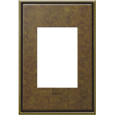 adorne 1-Gang 3-Module Wall Plate (Set of 4) Finish: Aged Brass