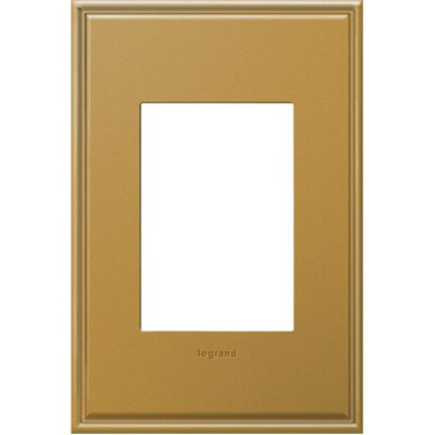 adorne 1-Gang 3-Module Wall Plate (Set of 4) Finish: Antique Bronze