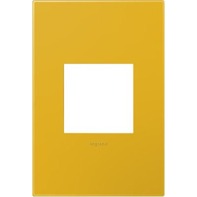 adorne 1-Gang Wall Plate (Set of 4) Finish: Honey