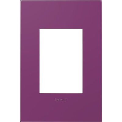 adorne 1-Gang, 3-Module Wall Plate (Set of 4) Finish: Plum