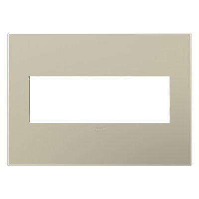 adorne 3-Gang Wall Plate (Set of 4) Finish: Titanium