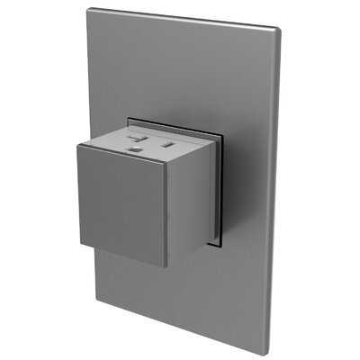 Adorne Wall Mounted Outlets Finish: Magnesium