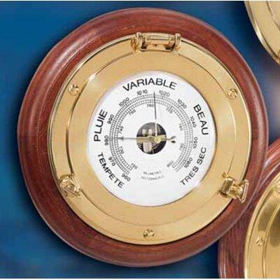 Moretti Luce Wandbullauge Oblo Legno mit Barometer
