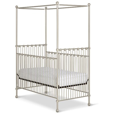 Straight Canopy Crib Color: Antique White Gloss