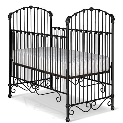 Flowers and Curls Crib Color: Black Gloss
