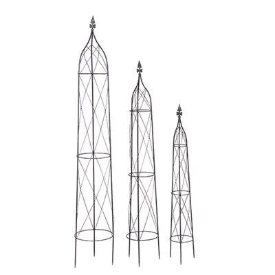 Siena Garden 3-tlg. Rankhilfe Obelisk-Set