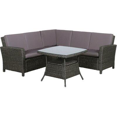 Siena Garden 4-tlg. Lounge-Set Monera mit Kissen