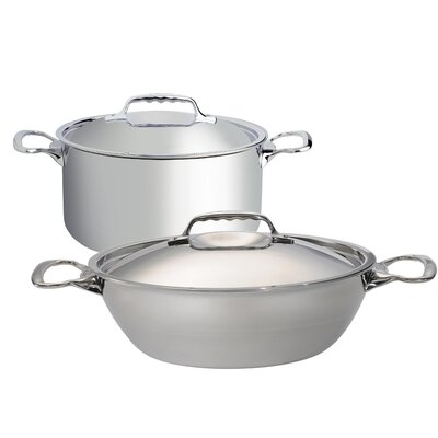de Buyer Affinity 4 Piece 5-Ply Stainless Steel Stew Pan Set