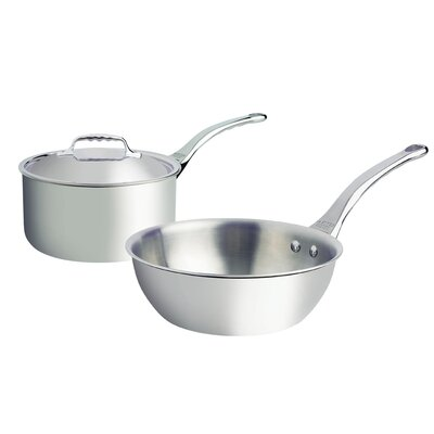 de Buyer Affinity 2 Piece 5-Ply Stainless SteelCookware Set