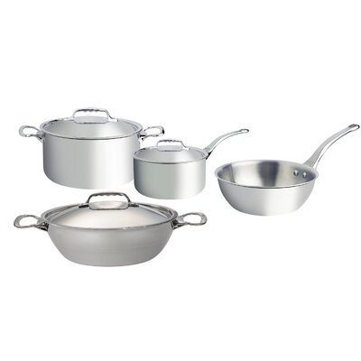 de Buyer Affinity 4 Piece 5-Ply Stainless Steel Cookware Set