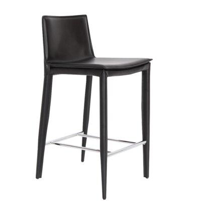 """Tiffany 29.5"""" Bar Stool Upholstery: Black"""