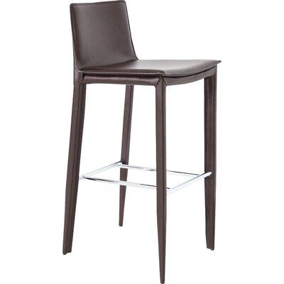 "Tiffany 24"" Bar Stool Upholstery: Brown"