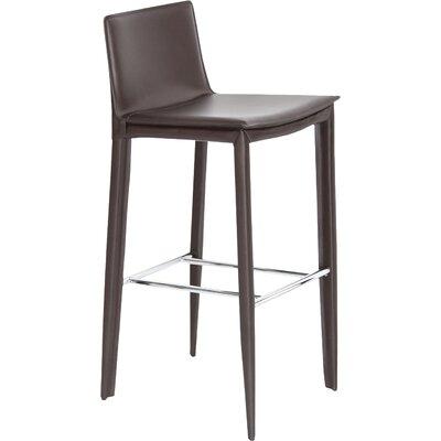 "Tiffany 29.5"" Bar Stool Upholstery: Brown"