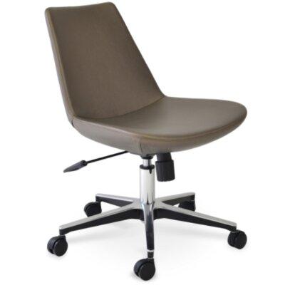 Eiffel Desk Chair Fabric: Leatherette, Upholstery: Bone PPM