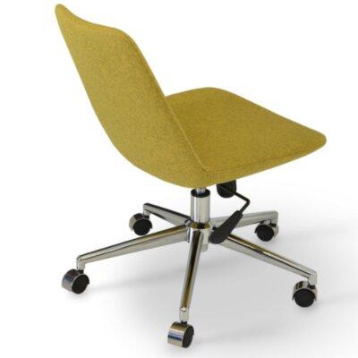 Eiffel Desk Chair Upholstery: Pistachio, Fabric: Camira Wool