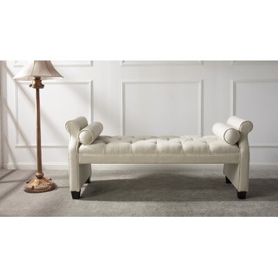 Belby Roll Arm Upholstered Bench Upholstery: Sky Neutral