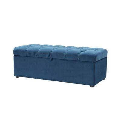 Luyen Tufted Upholstered Storage Bedroom Bench Upholstery: Satin Teal