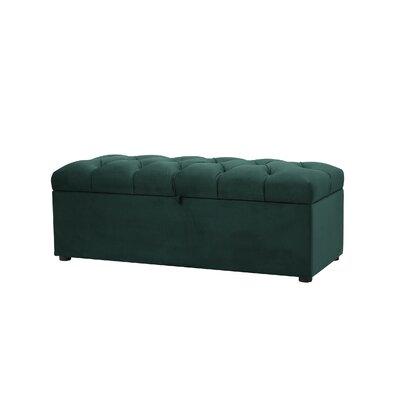 Luyen Tufted Upholstered Storage Bedroom Bench Upholstery: Hunter Green